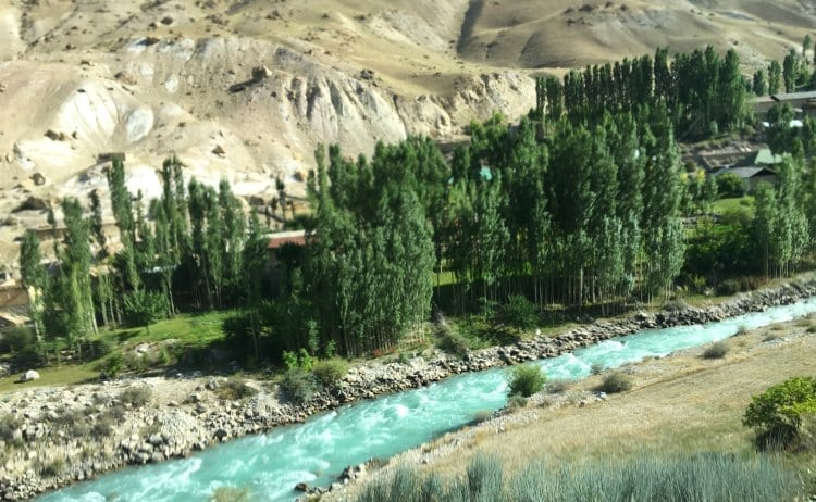 Image of turquoise flowing river