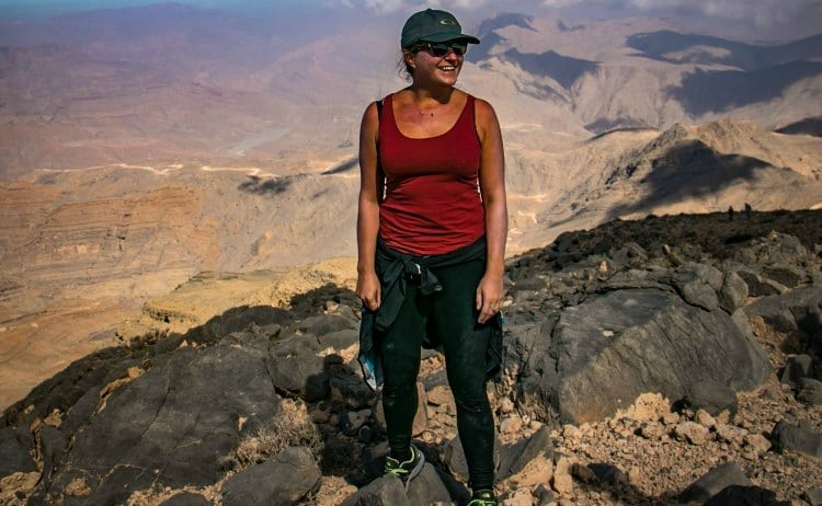 Image of woman hiker at the summit