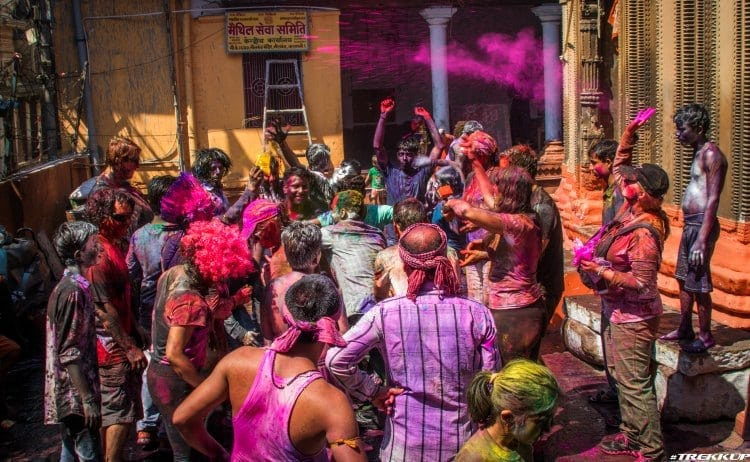 Image of holi festival party in india