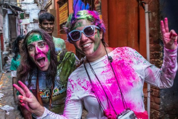 Backstreets at Holi in Varanasi