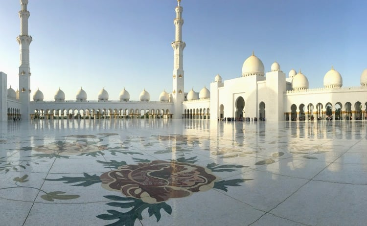Image of grande mosque with floral floor