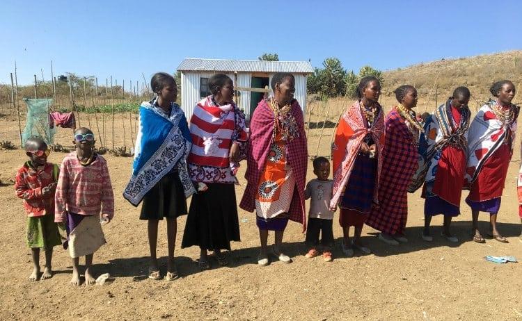African Masai tribeswomen in Kenya