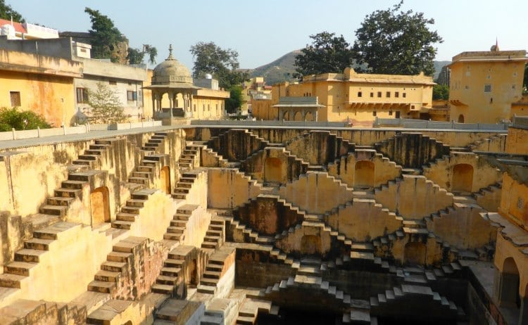 Panna Meena ka Kund in Jaipur. A historic site with lots of steps