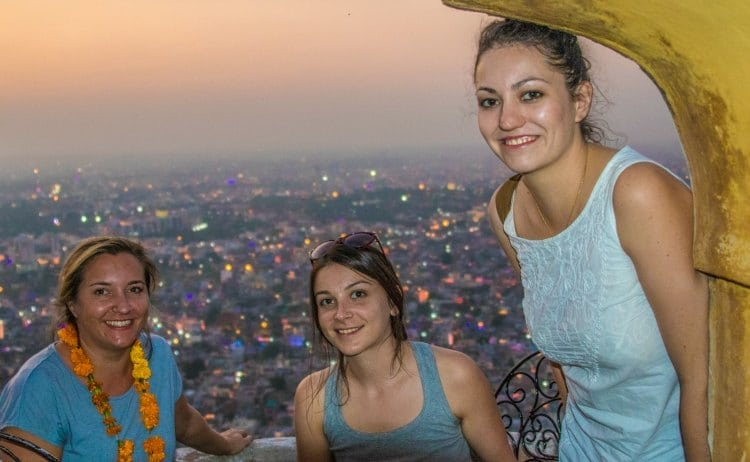 Celebrating Diwali with views over Jaipur from Narahgarh Fort