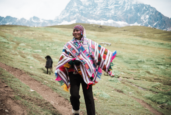 Image of peruvian man in the mountains