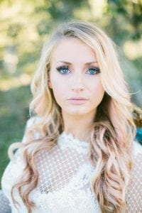 Image of blonde woman with blue eyes