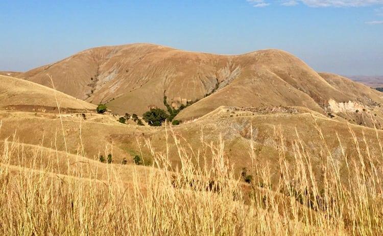 Image of mountain in Madascar shaped like an elephant sleeping