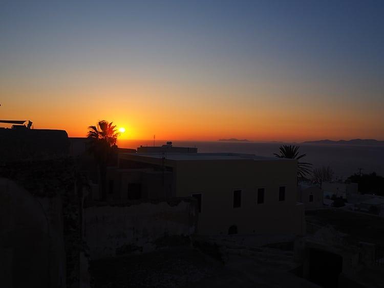 Sunset over Santorini
