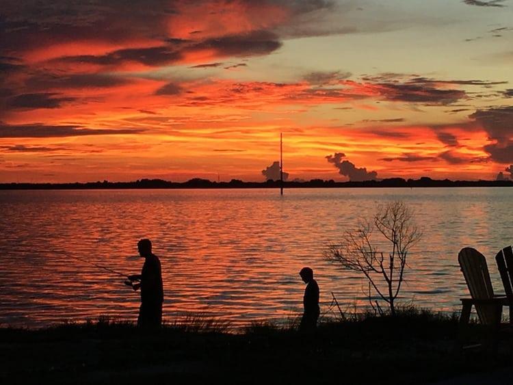 Sunset over Banana River Florida