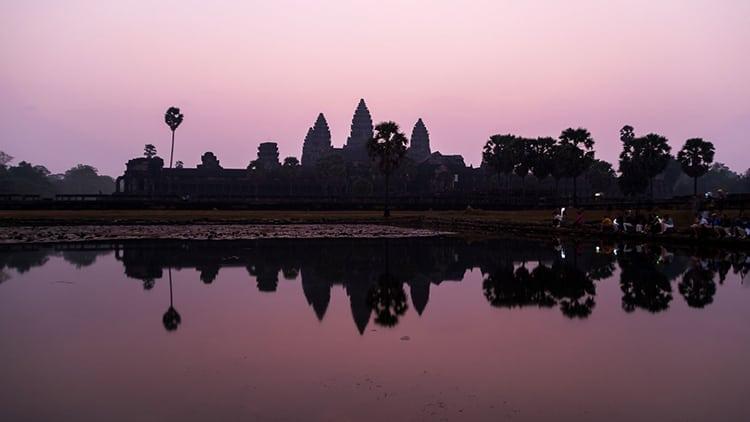 Sunrise at Ankor Wat in Cambodia