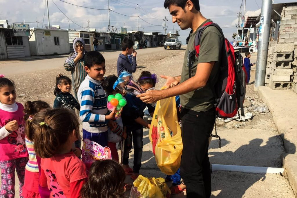 Joan Torres, Against the Compass, at a Syrian refugee camp