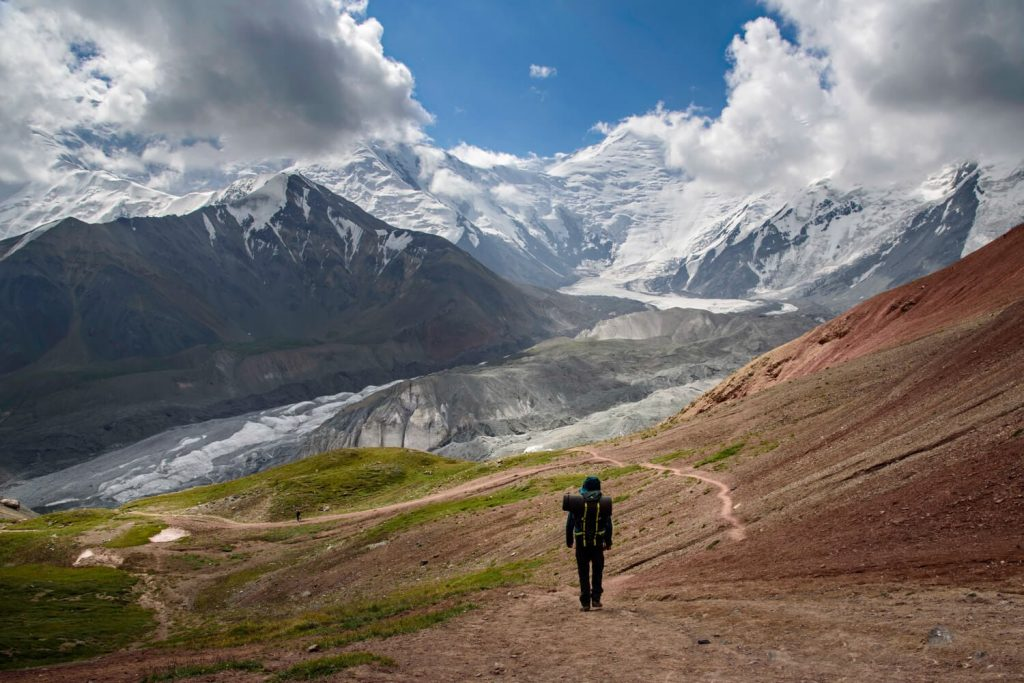 Joan Torres, Against the Compass, hiking Lenin Peak in Kyrgyzstan