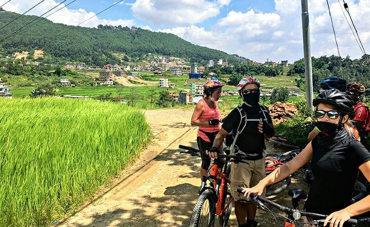 Mountain biking in Kathmandu Valley