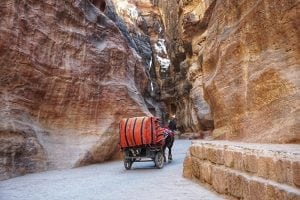 The Siq at Petra in Jordan
