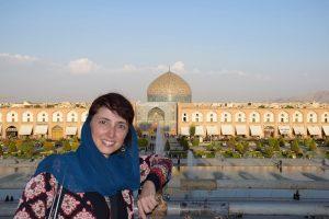 My Unusual Journeys blogger Konstantina at Isfahan in Iran