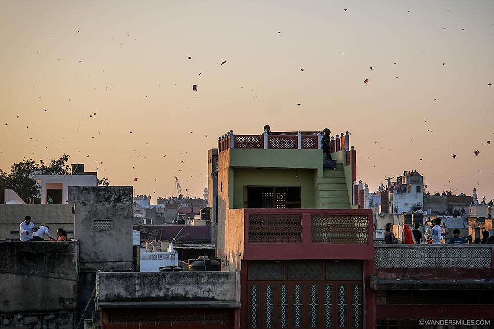 Sunset at Uttarayan in Jaipur - Wanders Miles