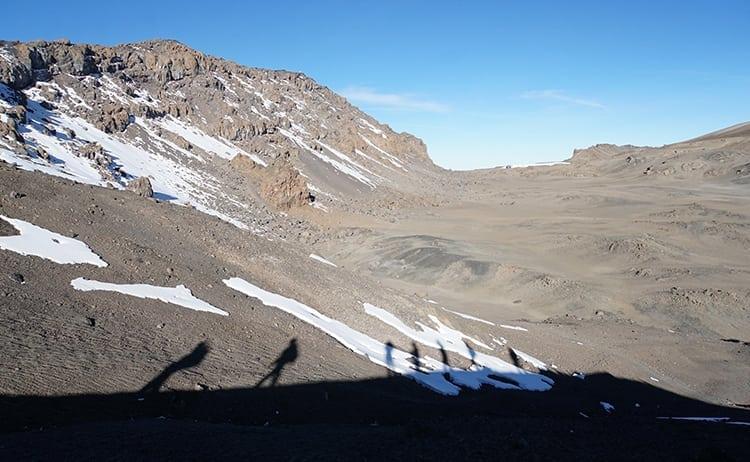 Day 4 on the Kilimanjaro trek. Views from Stella Point to Uhuru Peak.