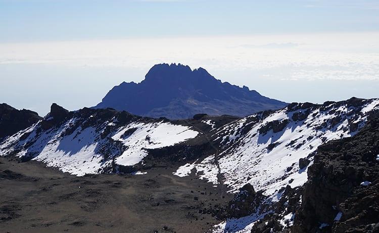 Day 4 on the Kilimanjaro trek. Views from Uhuru Peak, the roof of Africa.