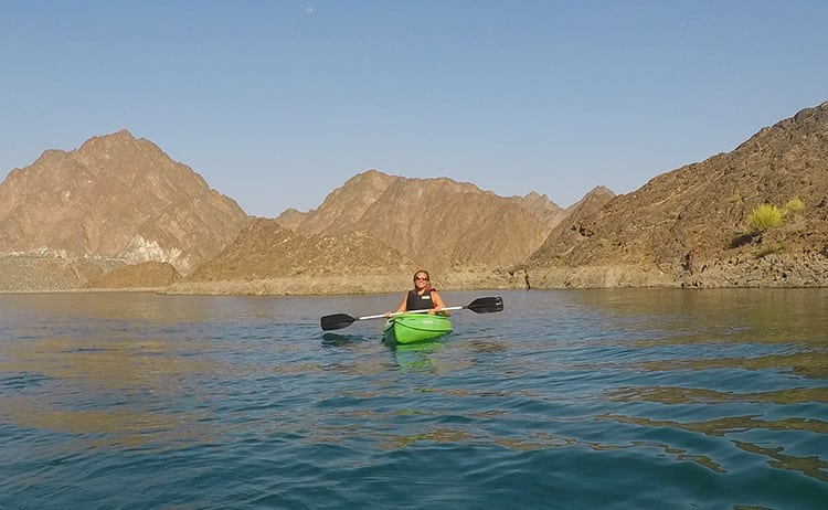 Kayaking on Hatta Dam, UAE