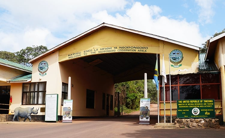 Entrance to Ngorongoro Conservation Area, Tanzania