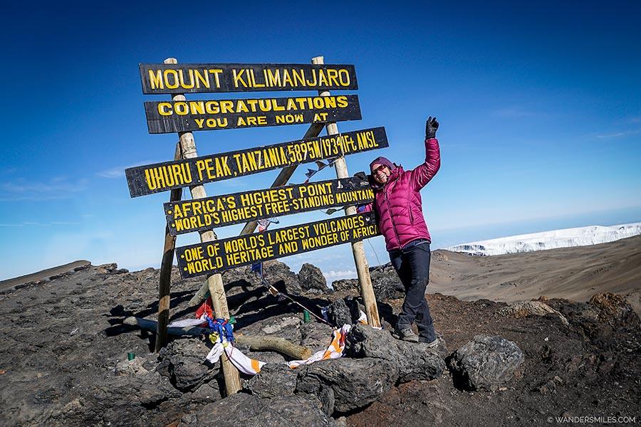 Vanessa from Wanders Miles summits Kilimanjaro