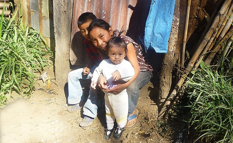Kids in Cuidad Vieja, Antigua in Guatemala