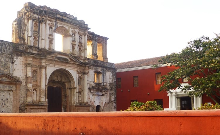 Ruins of old church in Antigua, Guatemala
