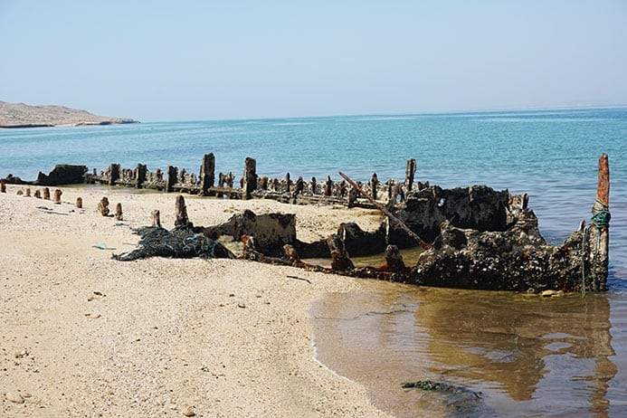 Ship wreck on Hengam Island, Iran