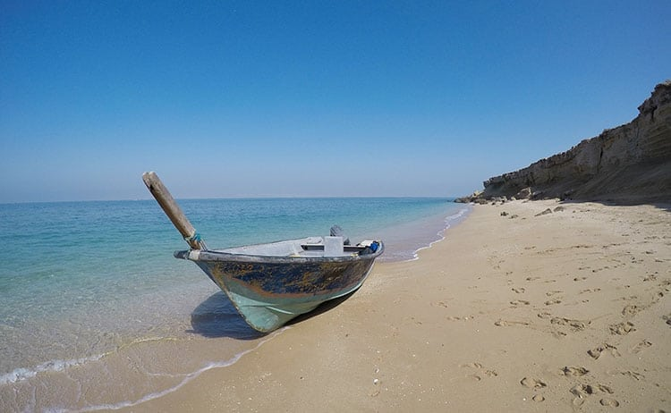 Deserted beach on Hengam Island by Qeshm, Iran