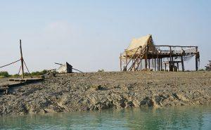 Old man's house in the Hara Mangrove in Qeshm, Iran