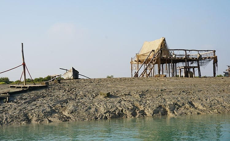 Old man's house in the Hara Mangrove in Qeshm, Iran