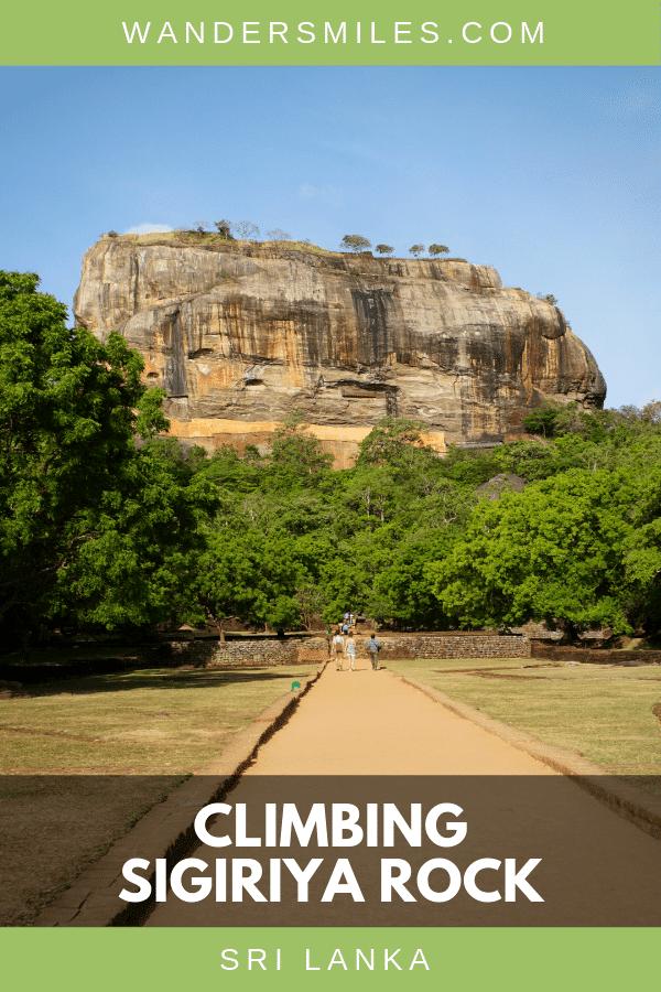 Learn about the history and read tips on climbing Sigiriya Rock (Lion Rock Fortress) in the Central Province, Sri Lanka #srilanka #sigiriyarock