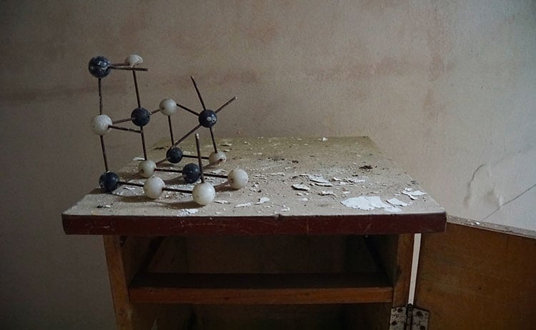 Chemistry classroom at school in Pripyat