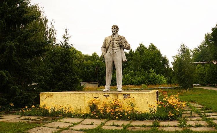 Lenin monument at Chernobyl