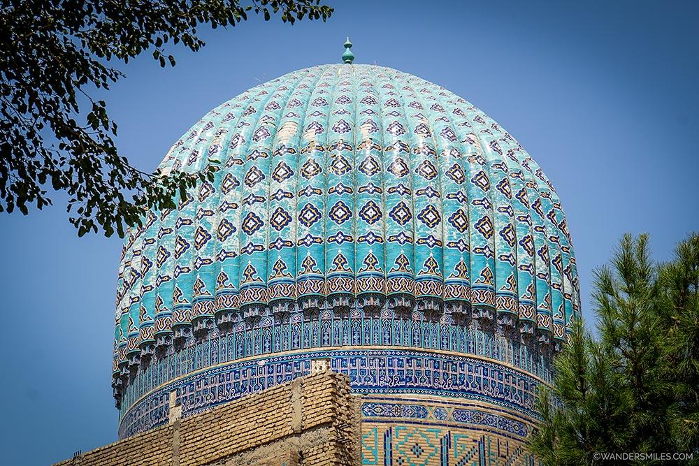 Cupola on the Bibi-Khanym Mosque in Samarkand, Uzbekistan