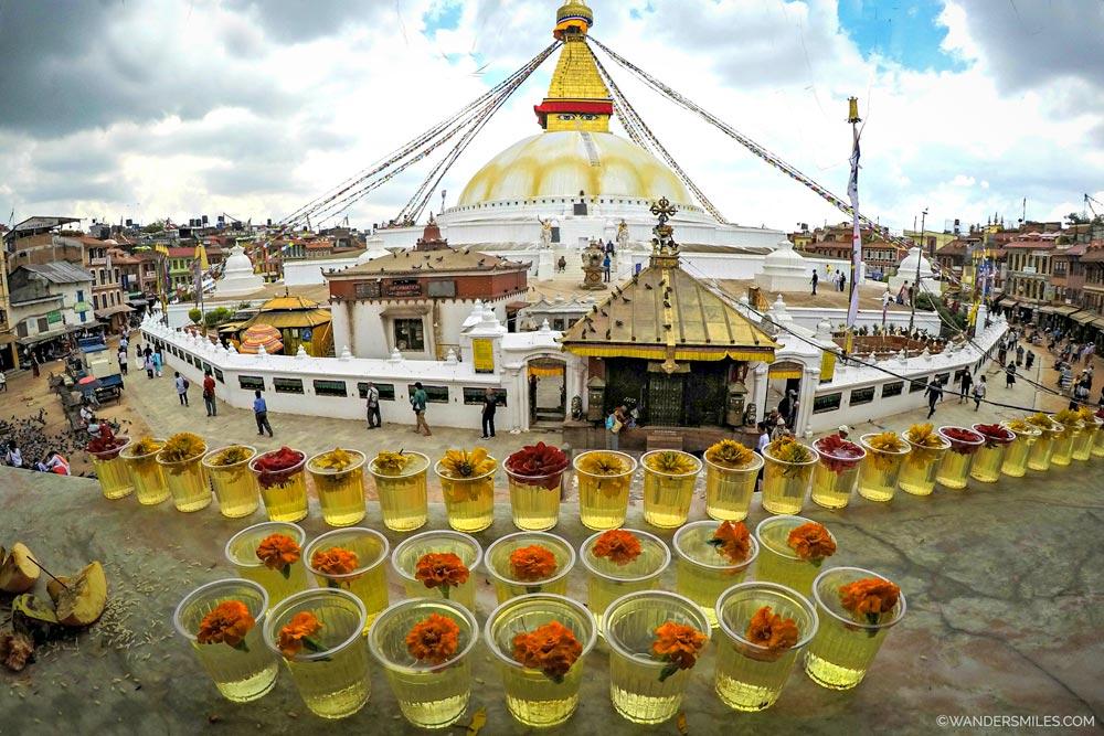 Boudhanath Temple in Kathmandu Valley
