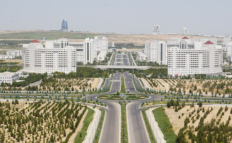 Views from Monument of Neutrality in Ashgabat, Turkmenistan. © Wanders Miles