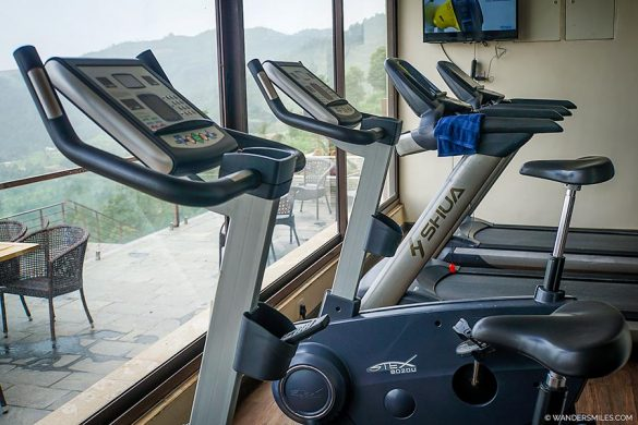 Gym at Hotel Mystic Mountain, Nagarkot