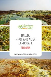 Dallol is a hot and alien volcanic landscape in Ethiopia, don't miss the Lake Asale salt plains and salt mountains the Danakil Depression. Travel blog by Wanders Miles.