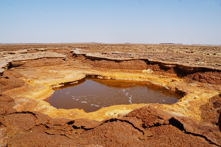 Sulphuric acid pool in the Danakil Depression