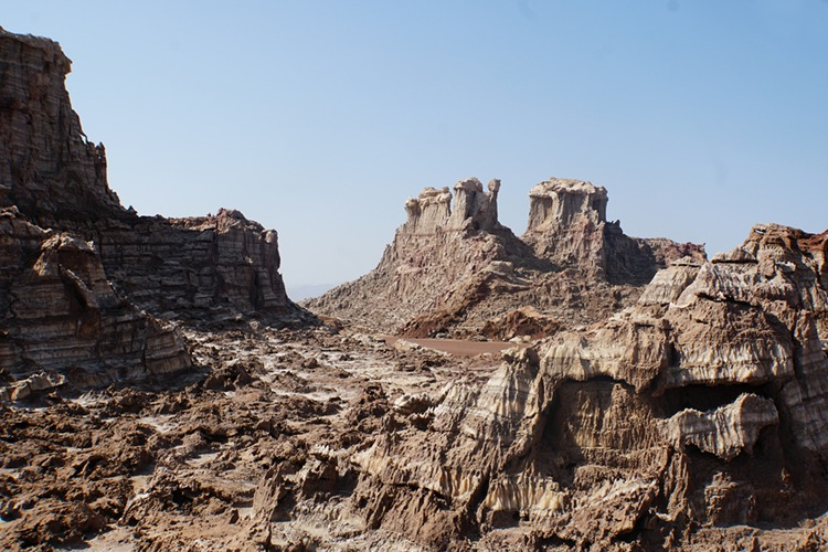 Crazy formations at Salt Mountains in the Danakil Depression