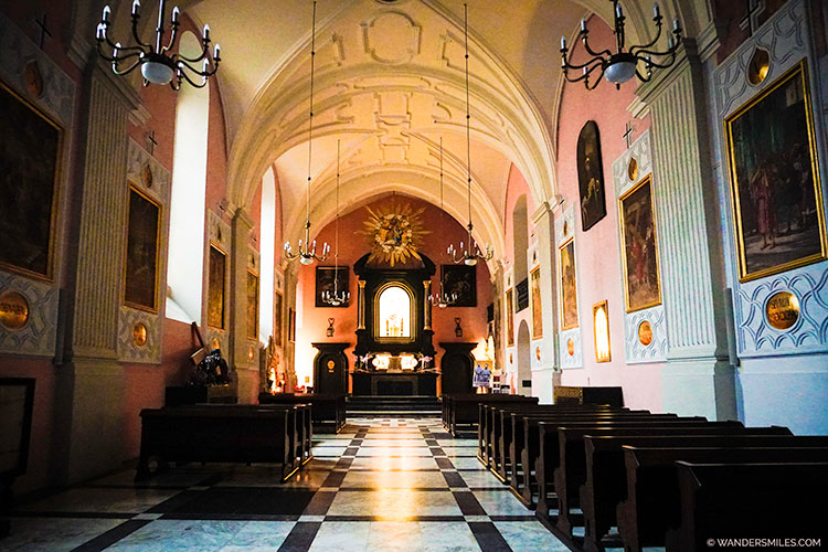 Interior of Basilica of St Francis Church of Assisi, Krakow