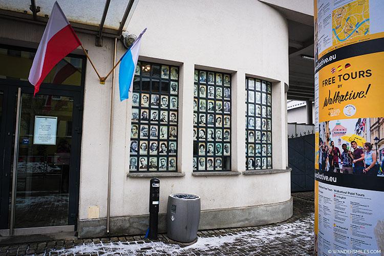 Outside of Osker Schindlers museum in krakow