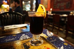 Mulled wine or Grzaniec in Staka Restaurant, Krakow