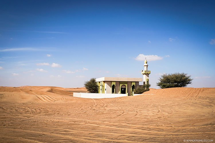 Mosque at the abandoned village of Al Madam at Sharjah, United Arab Emirates.