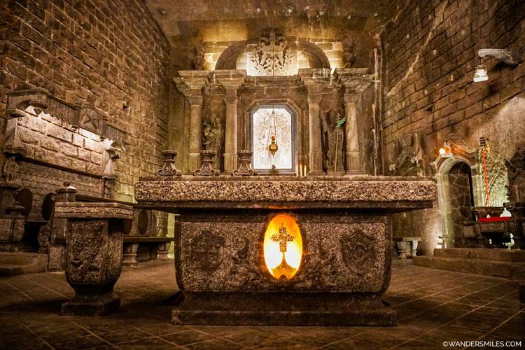 The Chapel of St. Kinga at the Wieliczka Salt Mine