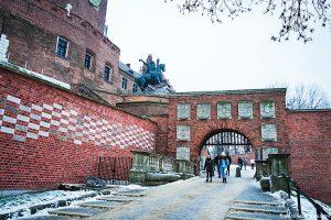 Entrance to Wawel Castle in Krakow