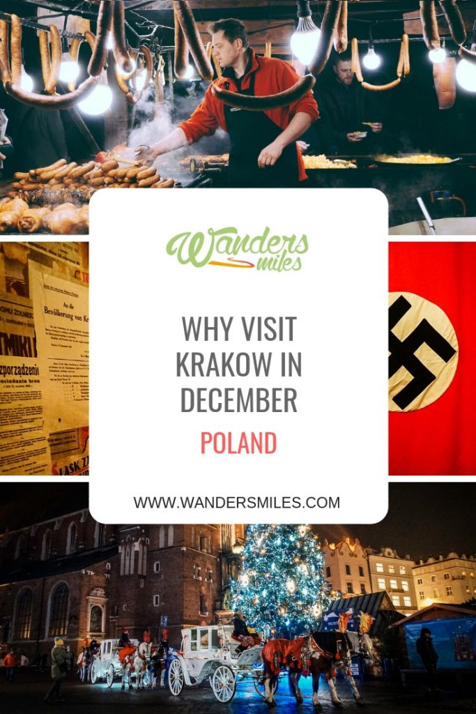 Why visit Krakow in Poland in December? Feel festive at the Christmas market, explore the Oskar Schindler's museum, visit Wawel Castle and much more. Travel blog by Wanders Miles.