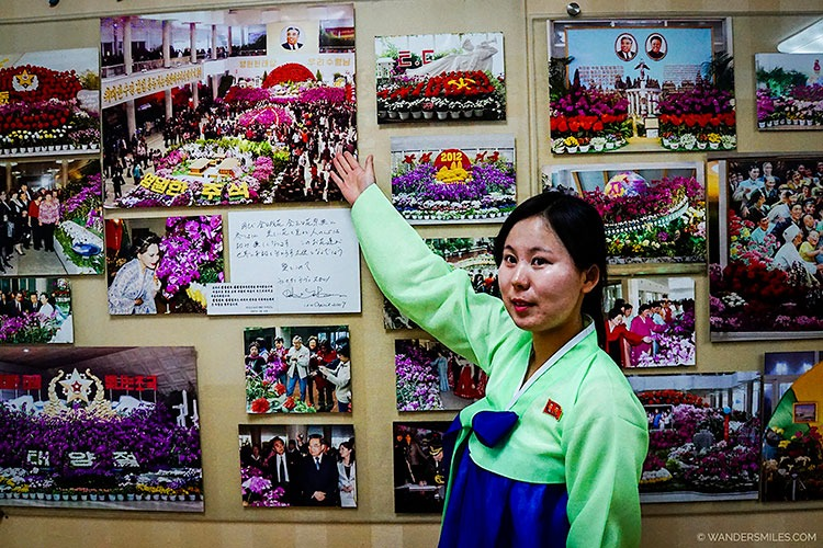 Guide at the Kimilsungia and Kimjongilia Flower Exhibition Centre - Things to see in Pyongyang