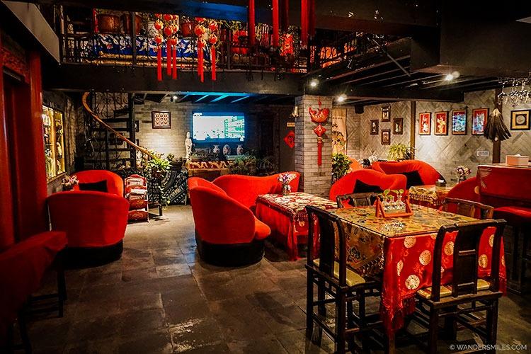 Restaurant bar at Beijing Double Happiness Courtyard Hotel
